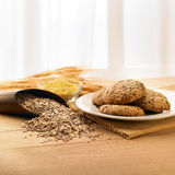 Multigrains biscuits Royalty Free Stock Photos