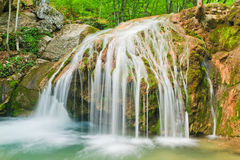 Multijet waterfall Royalty Free Stock Image