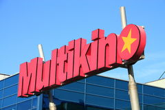 Multikino. Shot of Multikino logo Royalty Free Stock Photos