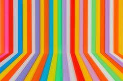 Multikleuren flexibel stro met leeg Royalty-vrije Stock Foto's