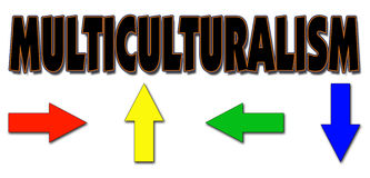 Multikulturalismus stock abbildung