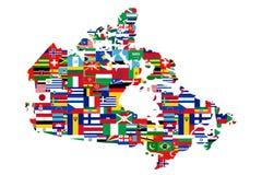 Multikulturelle kanadische Karte lizenzfreie abbildung