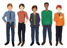 Multikulturelle Männer Lizenzfreies Stockbild