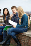 Multikulturelle Studenten lizenzfreies stockfoto