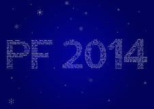 Multilanguage PF 2014 Royalty Free Stock Image