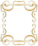 Multilayer ornate frame on a white background Stock Images