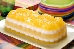 Multilayer party gelatin Stock Photos