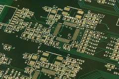 Multilayer printed circuit board. Moscow. Russia. 4 december 2016 royalty free stock photo