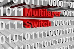 Multilayer switch. As a binary code 3D illustration Stock Photo
