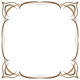 Multilayer vector brown frame on a white background Stock Images