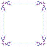 Multilayer vector violet blue elegant frame Stock Photo