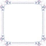 Multilayer vector violet blue elegant frame Stock Photo