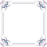 Multilayer vector violet blue elegant frame Stock Images