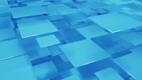 Multilayered composition of blue squares 3D rendering. Multilayered composition of blue squares. Abstract geometric background. 3D render royalty free illustration