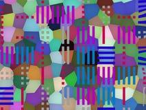 Multilayered geometrische achtergrond Stock Afbeelding