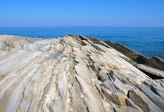 Multilayered structure of limestone Royalty Free Stock Images
