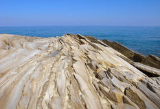 Multilayered structure of limestone Royalty Free Stock Photos