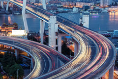 The multilevel city traffic Stock Photos