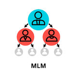 Multilevel marketing icon, for graphic and web design. Modern flat editable line design vector illustration, multilevel marketing icon, for graphic and web Stock Image