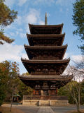 Multilevel pagoda in Nara Stock Images
