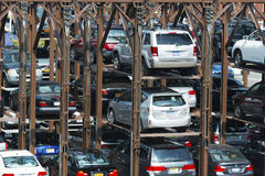 Multilevel parking in New York City Stock Image