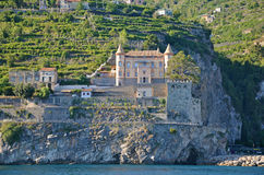 Multilevel settlement on the cliffs of the Amalfi coast and beau Royalty Free Stock Photo