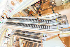 Multilevel shopping center. Interior of modern multilevel luxury shopping center,kingkeymall,shenzhen,china Royalty Free Stock Image