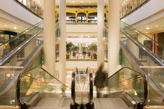 multilevel shopping för galleria Royaltyfria Bilder
