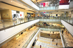 Multilevel shopping mall royalty free stock photo