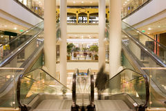 Multilevel shopping mall. Inside an multilevel shopping mall Royalty Free Stock Images