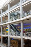 Multilevel shopping mall Stock Images