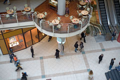 Multilevel shopping mall. Inside view of a multilevel shopping mall Royalty Free Stock Photos