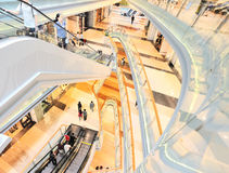 Multilevel shopping plaza Stock Images
