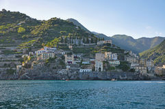 Multilevel towns on the cliffs of the Amalfi coast Royalty Free Stock Photos