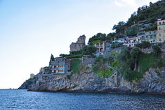 Multilevel towns on the cliffs of the Amalfi coast Stock Photo