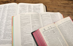 Multilingual Bible Study Royalty Free Stock Photos