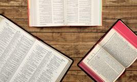 Multilingual Bible Study Stock Image