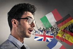 Multilingual conversation Stock Images