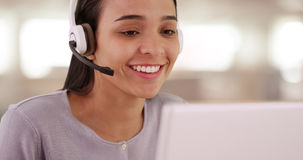 Multilingual customer service representative. Multilingual woman customer service representative Royalty Free Stock Images