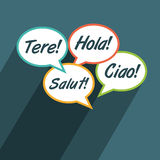 Multilingual environment illustration Stock Photography