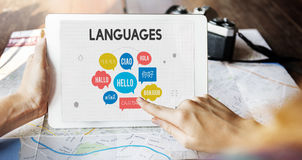 Multilingual Greetings Languages Concept Royalty Free Stock Photos