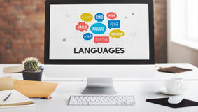 Multilingual Greetings Languages Concept Stock Photo