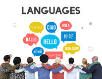 Multilingual Greetings Languages Diversity Concept Stock Images