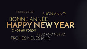 Multilingual happy new year background Stock Photos