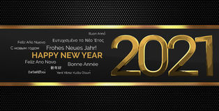 Multilingual happy new year 3d render background Stock Photography