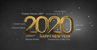 Multilingual happy new year 3d render background Stock Images