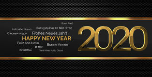 Multilingual happy new year 3d render background Royalty Free Stock Photo