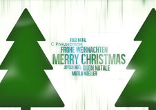 Multilingual Merry Christmas Royalty Free Stock Photography