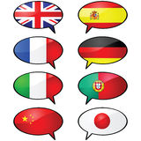 Multilingue Photographie stock