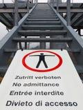 Multilingue aucun signe d'accès Photographie stock libre de droits
